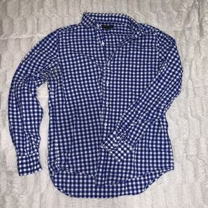 Men's express checkered dress shirt